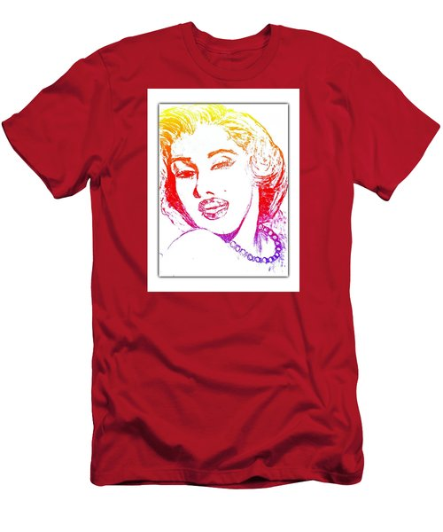 Color Rendition Of Marilyn Monroe Men's T-Shirt (Athletic Fit)