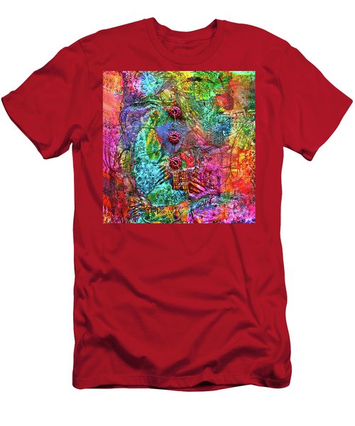 Color With Buttons Men's T-Shirt (Athletic Fit)