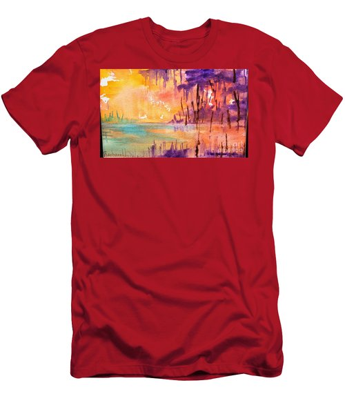 Colorful Bayou Men's T-Shirt (Slim Fit)