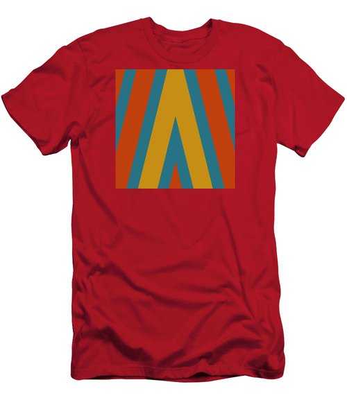 Colorful Chevrons Men's T-Shirt (Athletic Fit)