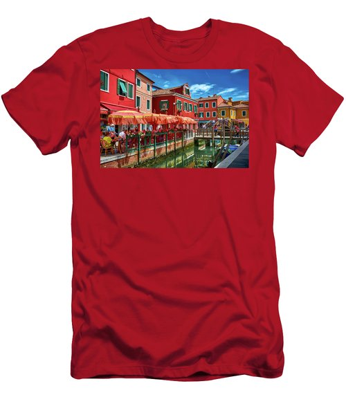 Colorful Day In Burano Men's T-Shirt (Athletic Fit)