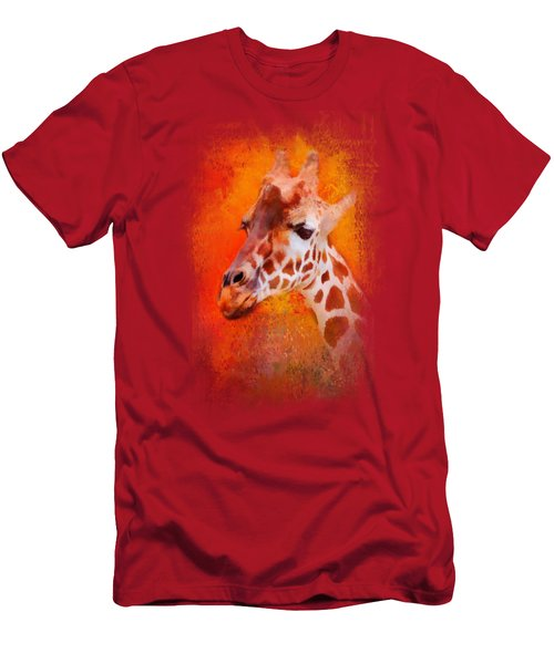 Colorful Expressions Giraffe Men's T-Shirt (Athletic Fit)