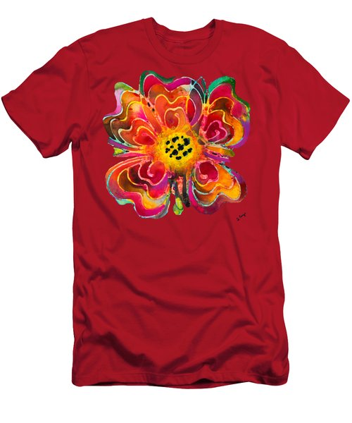 Colorful Flower Art - Summer Love By Sharon Cummings Men's T-Shirt (Athletic Fit)
