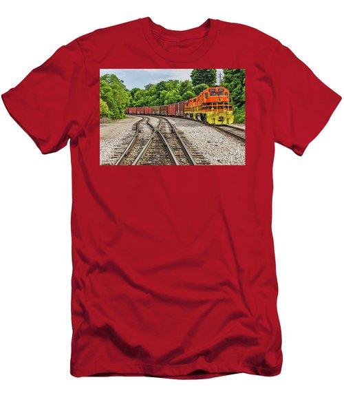 Colorful Marquette Rail Men's T-Shirt (Athletic Fit)