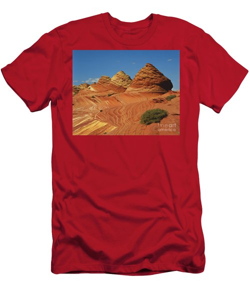 Colorful Sandstone In Arizona Men's T-Shirt (Athletic Fit)