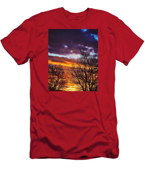 Colorful Skies Men's T-Shirt (Slim Fit) by Nikki McInnes