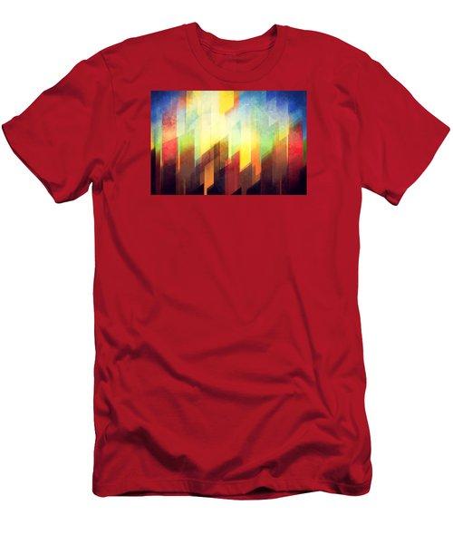 Colorful Urban Design Men's T-Shirt (Athletic Fit)