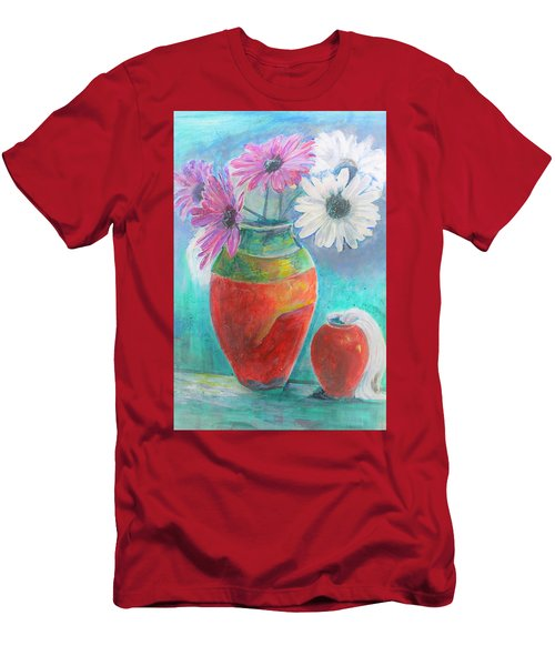 Colorful Vases And Flowers Men's T-Shirt (Athletic Fit)