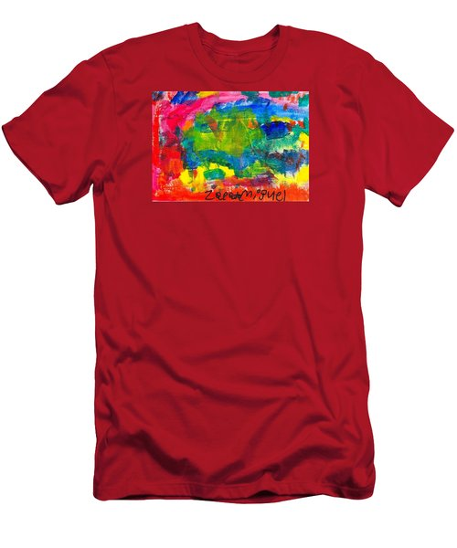 Men's T-Shirt (Slim Fit) featuring the painting Colors by Artists With Autism Inc