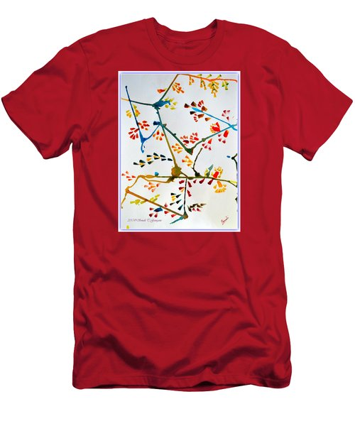 Colourful Blossoms Men's T-Shirt (Slim Fit) by Sonali Gangane