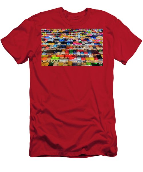Men's T-Shirt (Athletic Fit) featuring the photograph Colourful Night Market by Pradeep Raja Prints