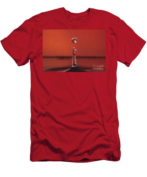 Column With Droplet Men's T-Shirt (Athletic Fit)