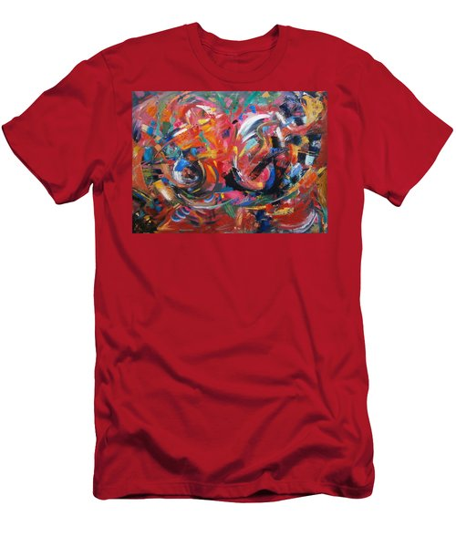 Men's T-Shirt (Slim Fit) featuring the painting Committee Action by Gary Coleman