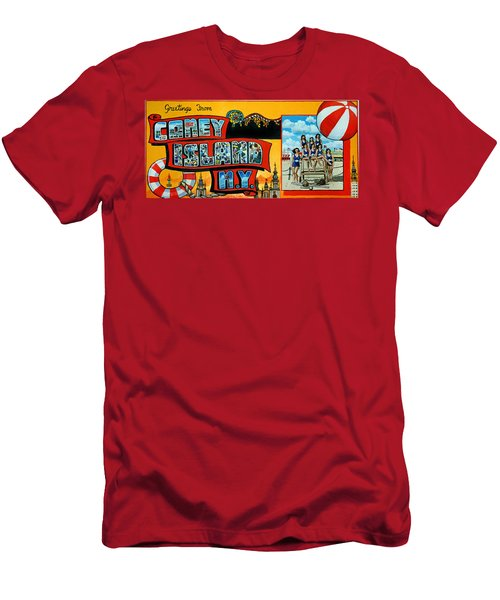 Coney Island New York Men's T-Shirt (Athletic Fit)
