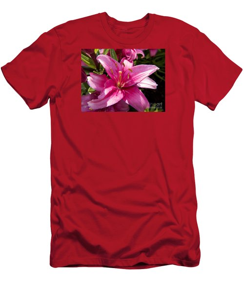 A Lily Speaks Of Love In The Language Of The Heart Men's T-Shirt (Athletic Fit)