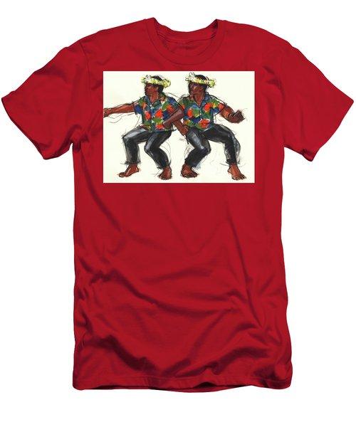 Cook Islands Ute Dancers Men's T-Shirt (Athletic Fit)