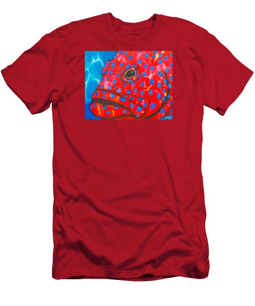 Coral Groupper II Men's T-Shirt (Athletic Fit)