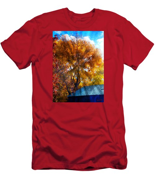 Cottonwood Conversations With Cobalt Sky  Men's T-Shirt (Slim Fit) by Anastasia Savage Ealy
