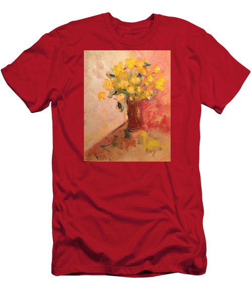 Country Flowers Men's T-Shirt (Slim Fit) by Roxy Rich