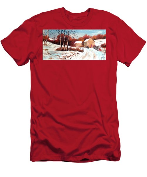 Country Snow Men's T-Shirt (Slim Fit) by Jim Phillips