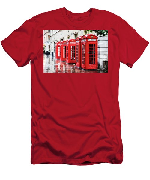 Covent Garden Phone Boxes Men's T-Shirt (Athletic Fit)