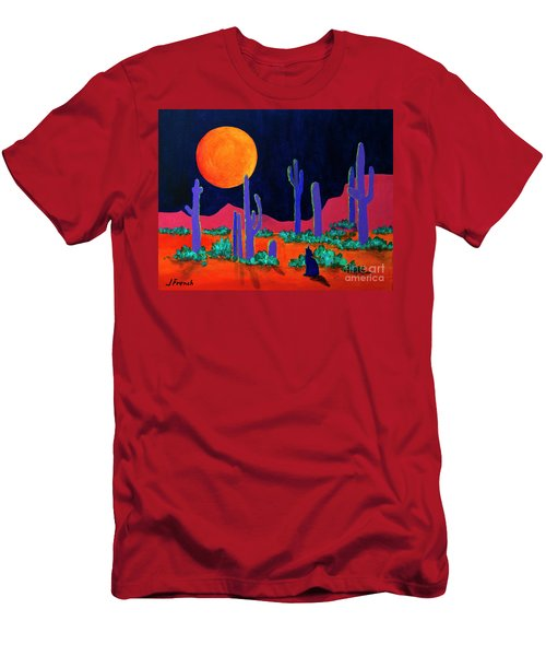 Coyote Moon Men's T-Shirt (Slim Fit) by Jeanette French