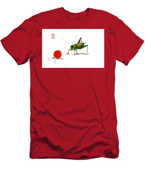 Cricket  Joy With Cherry Men's T-Shirt (Slim Fit) by Debbi Saccomanno Chan