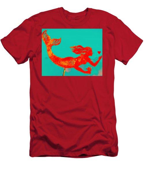 Crimson Mermaid Men's T-Shirt (Athletic Fit)