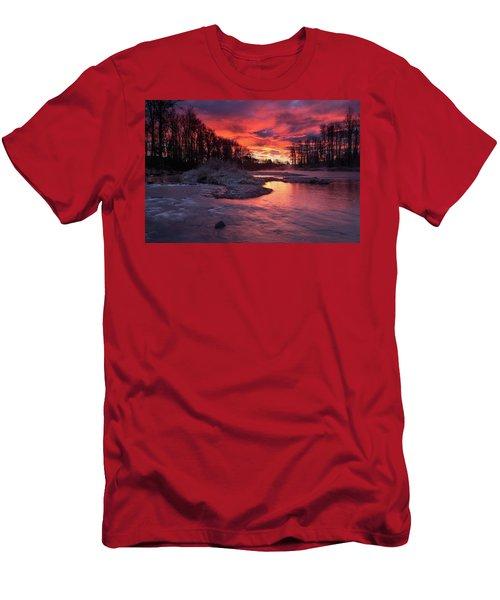 Sage Island Sunrise Men's T-Shirt (Athletic Fit)