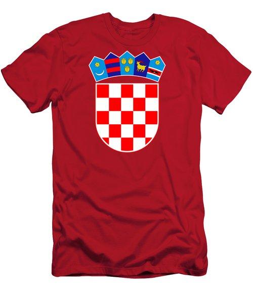 Croatia Coat Of Arms Men's T-Shirt (Slim Fit) by Movie Poster Prints