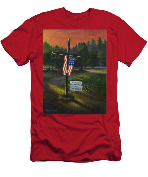 Cross Of Remembrance Men's T-Shirt (Athletic Fit)