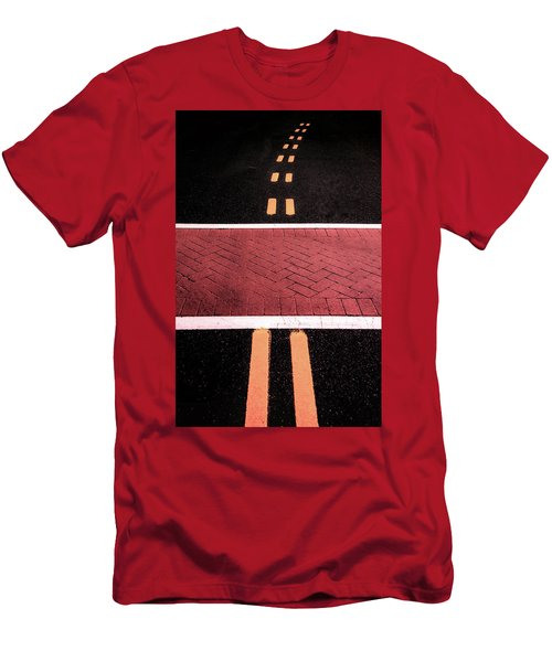 Crosswalk Conversion Of Traffic Lines Men's T-Shirt (Athletic Fit)