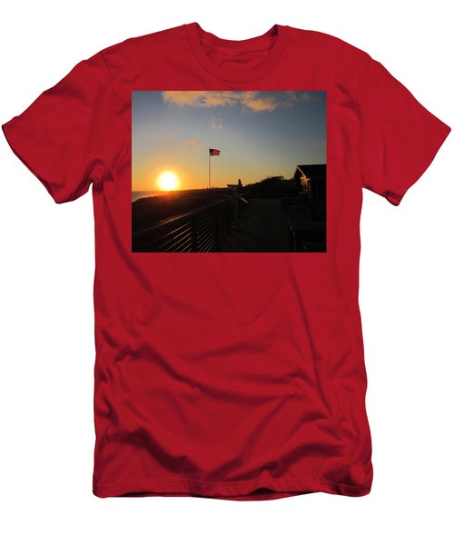 Crystal Cove 4th Of July Men's T-Shirt (Athletic Fit)
