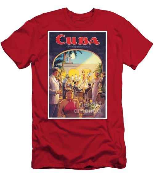 Cuba-land Of Romance Men's T-Shirt (Slim Fit) by Nostalgic Prints
