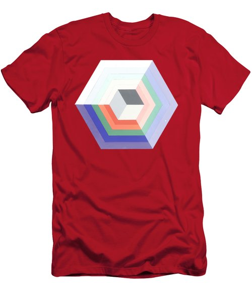 Cube Men's T-Shirt (Slim Fit) by Julio Lopez