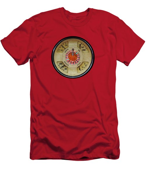 Custom Automobile Instrument With Lucky Roulette Wheel Design  Men's T-Shirt (Athletic Fit)