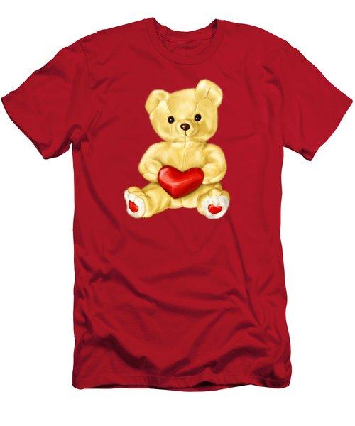 Cute Teddy Bear Hypnotist Men's T-Shirt (Slim Fit) by Boriana Giormova