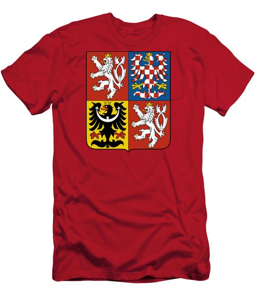 Czech Republic Coat Of Arms Men's T-Shirt (Athletic Fit)