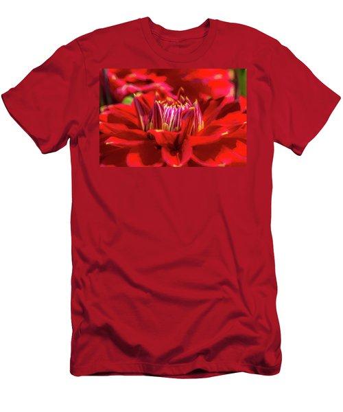 Dahlia Study 1 Painterly Men's T-Shirt (Athletic Fit)