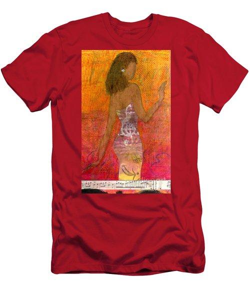 Dancing Lady Men's T-Shirt (Athletic Fit)