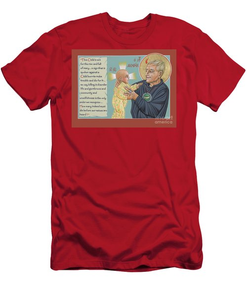 Men's T-Shirt (Athletic Fit) featuring the painting Holy Prophet Daniel Berrigan 291  by William Hart McNichols
