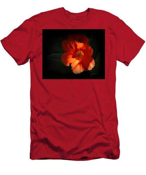 Men's T-Shirt (Athletic Fit) featuring the photograph Dark Flower by AJ Schibig