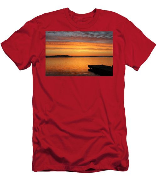 Dawn In The Sky At Dusavik Men's T-Shirt (Athletic Fit)