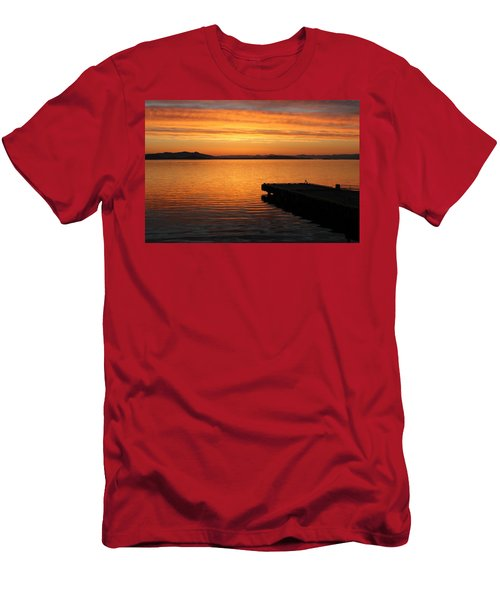 Dawn On The Water At Dusavik Men's T-Shirt (Athletic Fit)