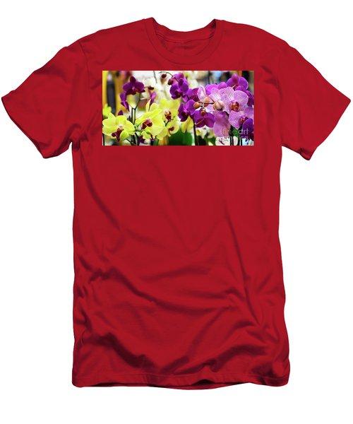 Decorative Orchids Still Life C82418 Men's T-Shirt (Athletic Fit)