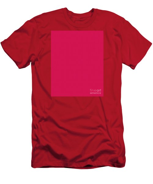 Deep Pink Textured Men's T-Shirt (Athletic Fit)