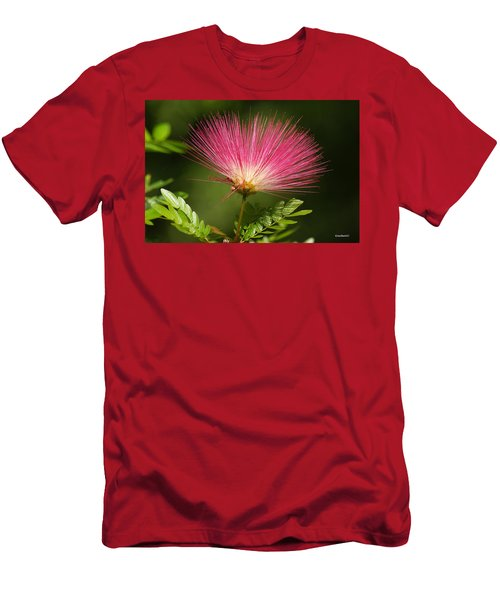 Delicate Pink Bloom Men's T-Shirt (Athletic Fit)