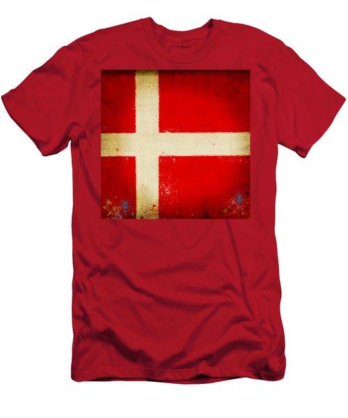 Denmark Flag Men's T-Shirt (Athletic Fit)