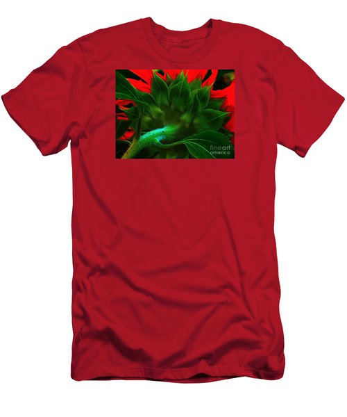 Men's T-Shirt (Slim Fit) featuring the photograph Derriere by Elfriede Fulda