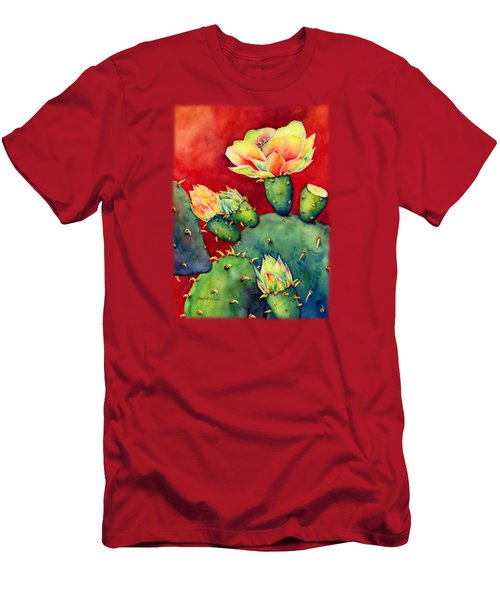 Desert Bloom Men's T-Shirt (Slim Fit) by Hailey E Herrera